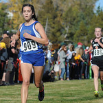Mike Dunn | The Sheridan Press Sheridan's Xiomara Robinson runs to the finish line during the class 4A girls State Cross-Country Championship Saturday at the Veterans Affairs Medical Campu ...