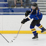 Tibby McDowell | The Sheridan Press Justin Bailey takes a shot on goal during the semi-finals of the state tournament at Whitney Rink at the M&M's Center Saturday Feb. 24, 2018.