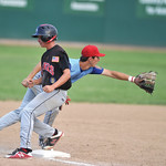 Bud Denega | The Sheridan Press Sheridan's Austin Borzenski plays a ball in a game against Gillette at Thorne-Rider Stadium Wednesday, July 18, 2018. The Roughriders topped the Troopers 8- ...