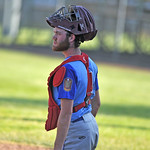 Bud Denega | The Sheridan Press Sheridan's Race Johnston looks on in a game against Gillette at Thorne-Rider Stadium Wednesday, July 18, 2018. The Roughriders topped the Troopers 8-4.