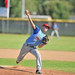 Bud Denega | The Sheridan Press Sheridan's Quinn McCafferty pitches in a game against Gillette at Thorne-Rider Stadium Wednesday, July 18, 2018. The Roughriders topped the Troopers 8-4.