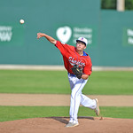 Bud Denega | The Sheridan Press Sheridan's Ayden Roush throws a pitch during game one of a doubleheader against Laramie at Thorne-Rider Stadium Sunday, July 15, 2018. The Rangers swept the ...