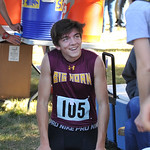 Ryan Patterson | The Sheridan Press Big Horn's Noah Harvey smiles after his race during the state cross-country meet at the Veteran Affairs Medical Center in Sheridan on Saturday, Oct. 20, ...