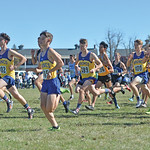 Bud Denega | The Sheridan Press The Sheridan High School boys team competes in the state cross-country meet at the Sheridan Veterans Affairs Medical Center Saturday, Oct. 20, 2018.