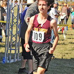 Ryan Patterson | The Sheridan Press Big Horn's Cameron Tift crosses the finish line during the state cross-country meet at the Veteran Affairs Medical Center in Sheridan on Saturday, Oct.  ...