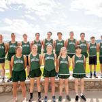 Ashleigh Snoozy | The Sheridan PressTongue River High School cross-country team, back row from left, are Michael Barron, Wyatt Ostler, Wes Beadle, Tristan Lewis, Jason Barron, Michael Perry, ...