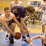 Justin Sheely | The Sheridan Press Sheridan's Coy Steel, left, fouls Campbell County's Adam DuVall during the game against the Camels Friday at Sheridan High School. Broncs lost in overt ...