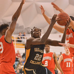 Justin Sheely | The Sheridan Press Sheridan General's Elhadji Dieng rebounds during the game against Northwest College Saturday in the Bruce Hoffman Golden Dome at Sheridan College.