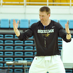 Sheridan College head men's basketball coach Matt Hammer explains a drill to campers during the SC boys basketball camp on Tuesday, June 14 at the Bruce Hoffman Golden Dome. Mike Pruden |  ...