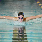Jadyn Mullikin swims the butterfly leg of the 200-meter individual medley during Sheridan's meet against Gillette and Buffalo on Tuesday, Sept. 13 at Sheridan Junior High School. Mike Prud ...