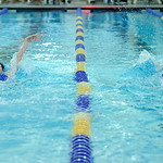 Sheridan's Piper Carroll, left, and Molly Green compete against each other in the 100-meter backstroke at the Sheridan Invite on Saturday, Sept. 24 at Sheridan Junior High School. Carroll  ...