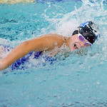 Olivia Thoney swims the final leg of the 200-meter medley relay at the Sheridan Invite on Saturday, Sept. 24 at Sheridan Junior High School. Mike Pruden | The Sheridan Press