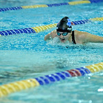 Sheridan's Victoria Petermann competes in the 100-meter butterfly at the Sheridan Invite on Saturday, Sept. 24 at Sheridan Junior High School. Mike Pruden | The Sheridan Press
