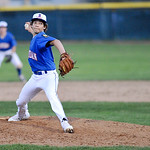 Kade Eisley throws a pitch in the fourth inning Sunday evening at Thorne-Rider Stadium. Mike Dunn | The Sheridan Press.