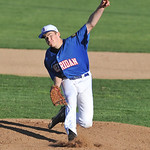 Quinton Brooks throws a pitch Sunday evening at Thorne-Rider Stadium. Mike Dunn | The Sheridan Press.